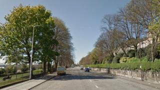 Regent Road in Edinburgh