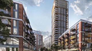 Artist's impression of Anglia Square redevelopment
