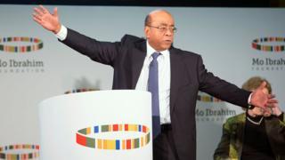 Mo Ibrahim lors de la présentation de son rapport 2016 à Londres
