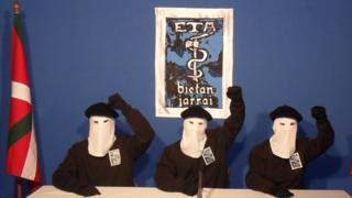Eta militants - file pic, undated