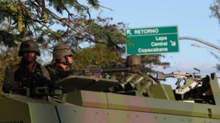 Brazilian troops in Rio, July 2017
