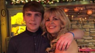Jack Glenn with his mother Helen Glenn