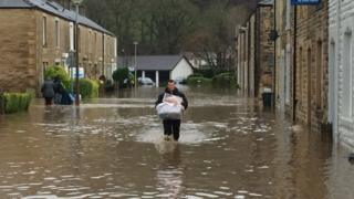 Flooding in Whalley village