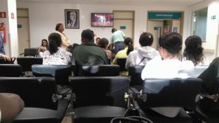 Pacientes em hospital em Barretos (SP)
