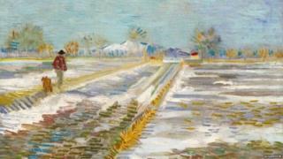 वान गोघ़ की पेंटिंग 'लैंडस्केप विद स्नो'