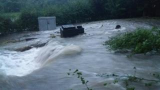 Burst water main, Bristol area 19 July 2017