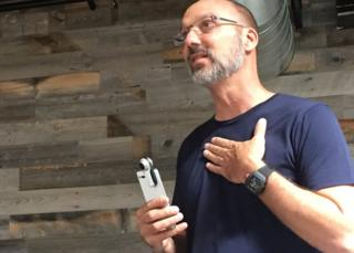 Andy Rubin with the Essential Phone