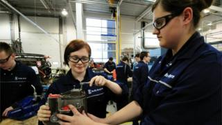 Apprentices at a learning and development centre