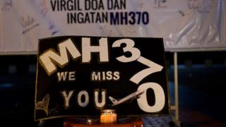 "A message says: ""MH370 we miss you"""