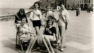 Women on Aberystwyth promenade in the 1950s