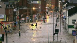 Serious flooding on June 25, 2007 in Sheffield