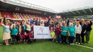 Special Olympics participants at Bramall Lane