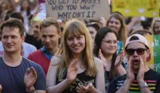 A rally in support of same-sex marriage in Sydney earlier this week