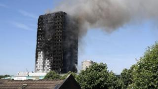 пожар в Лондоне 14 июня