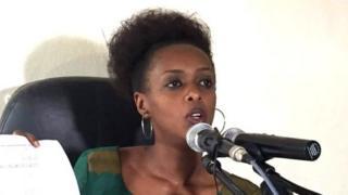 Diane Shima Rwigara ubwo yari mu kiganiro n'abanyamakuru muri uyu mwaka