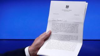 Letter from UK PM Theresa May to EC President Donald Tusk, informing him of the UK's decision to leave the EU, 29 March 2017