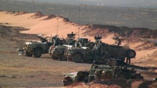 قوات بريطانية خاصة بالقرب من منطقة التنف في يونيو/حزيران 2016 (صورة من الأرشيف)