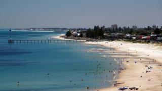 Stock image of Glenelg beach, Adelaide, Australia