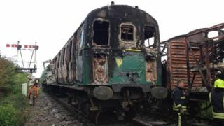 Swindon and Cricklade Railway fire