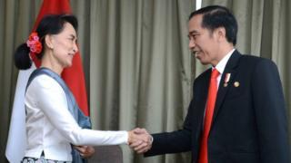 Aung San Suu Kyi dan Presiden Joko Widodo