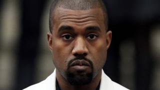 US rapper Kanye West,
