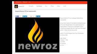 Newroz TV'nin internet sitesi