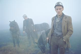 Даремские шахтеры со своими рабочими пони, 1965 г.