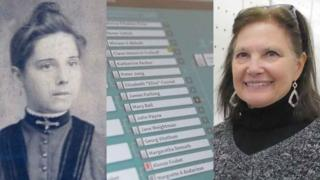 Christine Roberts (right) has been tracing her ancestors like great grandmother (left)