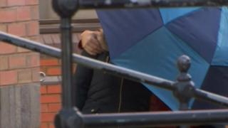 Connett arriving at court in Grimsby