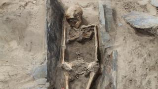One of the skeletons at Whitesands Bay