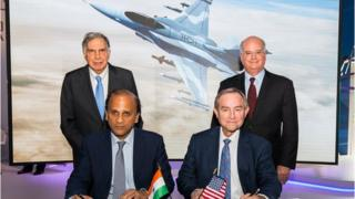 Lockheed Martin and Tata group's defence arm sign an agreement.