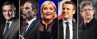 Candidatos à eleição presidencial na França