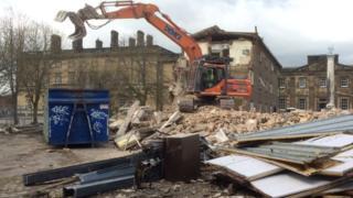 Demolition work at Bretton Hall