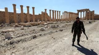 Syrian soldier in Palmyra, March 2016