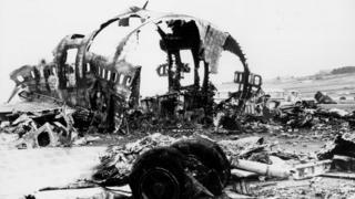 wreckage of the 1977 Tenerife airport crash
