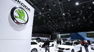 Skoda cars at the Geneva Motor Show