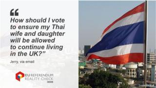 """Jerry asking: """"How should I vote to ensure my Thai wife and daugher will be allowed to continue living in the UK?"""""""