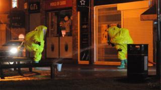 Decontamination work in Salisbury