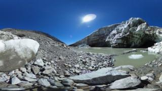 Melting glacier in Austria