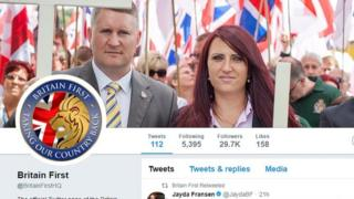 Britain First Twitter page
