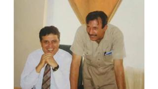 کهزاد (راست) و لطیف پدرام