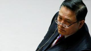 Ja Song Nam at the UN Security Council meeting