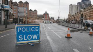 Police cordon in Leicester