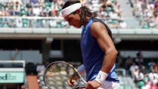 Rafael Nadal lors du tournoi en 2006