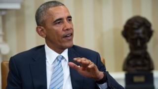 Obama in the White House in Washington, DC, USA, 17 February 2016.
