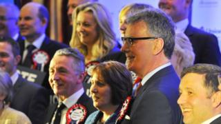 Members of the UUP with then leader Mike Nesbitt, pictured at the party's Assembly Election 2016 manifesto launch