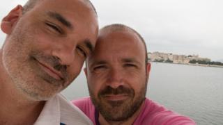 Maltese couple Roderick Vassallo (left) and Neil Falzon