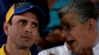 Henrique Capriles y Henry Ramos Allup