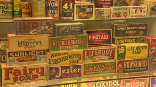 Collection at the Museum of brands in London