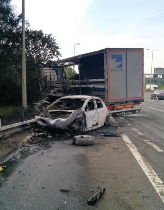 M1 vehicle fire